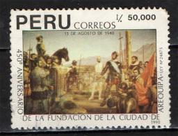 PERU' - 1990 - CITTA' DI AREQUIPA - 450° ANNIVERSRIO DELLA FONDAZIONE - USATO - Peru