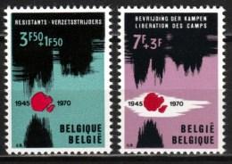 Belgique - Timbres De 1970 COB 1539/40 XX Libération Des Camps - Belgique