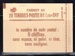 1974 C4 SABINE 1,20F ROUGE- CARNET De 20TP - CONF. 8  GOMME BRILLANTE - Carnets