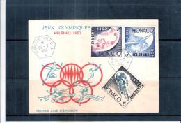 JO Helsinski 1952 - FDC Monaco (à Voir)