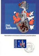 LIECHTENSTEIN  Carte Maxi  1982  Armoiries Joseph Anton Kaufmann - Coat Of Arms