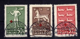 FINLANDE 1943 Red Cross Croix Rouge Yv 261/263 Obl - Gebraucht