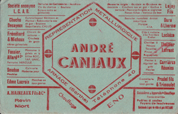 BUVARD  ANDRE CANIAUX A ARNAGE REPRESENTATION METALLURGIQUE - Blotters