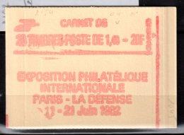 2154 C1 SABINE 1,40F VERT- CARNET De 20TP - PHILEX 82 - CONF. 8 -avec N° - Carnets