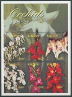 Burundi 2004 Orchideen Blumen Kleinbogen 1878/83 K Postfrisch (C23321)