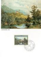 LIECHTENSTEIN  Carte Maxi  1982  Moritz Menzinger Tableaux Paysage Bendern - Ohne Zuordnung