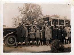 Original Foto Um 1930, Alter Autobus Viele Personen, Format Ca.12 X 9 Cm - Automobile