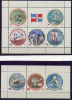 Dominican Republic, 1962, UNESCO, 15th Anniversary, United Nations, Olympics, MNH Overprinted, Michel 27-28A - Dominican Republic