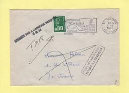 Pontoise Destination Haute Saone - Retour A L Envoyeur - N Habite Pas A L Adresse Indiquee TM14 - 1978 - Postmark Collection (Covers)