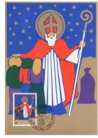 LIECHTENSTEIN  Carte Maxi  1981  Noel St Nicolas - Noël