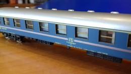 SCALA N ECHELLE - FS RIVAROSSI CARROZZA PASSEGGERI LIVREA SPECIALE AZZURRA - N SPUR - Passenger Trains