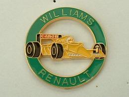 Pin´S FORMULE 1 -  WILLIAMS RENAULT - CAMEL - CANON - CERCLE VERT - VOITURE  JAUNE - F1