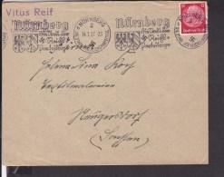 Deutsches Reich Brief Mit Stempel Nürnberg Stadt Der Reichsparteitage 1937 - Deutschland