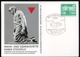 Todesmarsch KZ Sachsenhausen DDR PP16 C2/027 Privat-Postkarte Schwerin Sost. 1980 - WW2