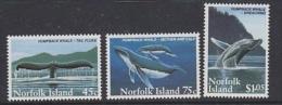 Norfolk Island 1995 Humpback Whales 3v  ** Mnh (21972) - Norfolk Eiland