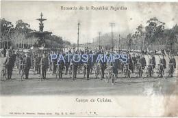 55590 ARGENTINA MILITARY CICLYNG CICLISMO DAMAGED POSTAL POSTCARD - Argentina
