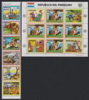 Paraguay Disney Tom Sawyer Strip Of 6v+Sheetlet SC#2147-48 [62567] - Paraguay