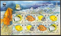 Pitcairn 2010 REEF Fish Fishe WWF  MiNr. 805 - 808  4v X 2     MNH** - W.W.F.