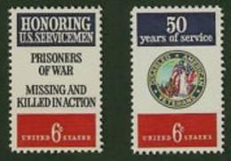 1970 USA American Veterans Stamps Sc#1421-22 Disabled Martial - Handicaps