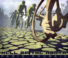 Paris-Roubaix - Une Ancienne Affiche Reproduite CP / Cyclisme Cycling Ciclismo Radfahren - Cyclisme