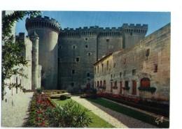 "Q3063 CARTOLINA CON CASTELLI - "" Tarascon ( B. Du Rhone ) Le Chateau "" - Castle, Schloss, Castello - Châteaux"
