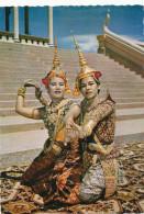 Cambodge, PHNOM-PENH Danseuses Du Palais Royal, 1961-2 Stamp, VINTAGE  PHOTO POSTCARD - Cambodia