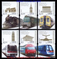Hong Kong 2010 Centenary Of Railway Stamps - Train - 1997-... Chinese Admnistrative Region