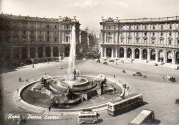 Roma - Piazza Esedra - Auto, Autobus - Places