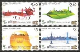China Hong Kong 2010 Shanghai Expo  Stamp 4v - 1997-... Chinese Admnistrative Region