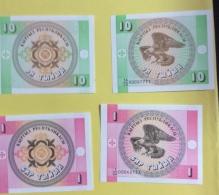 Kirghizistan : 2 Billets 1 & 10 Tyiyn, Type 1993 - Kirghizistan