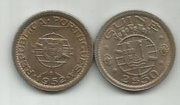 Guinea-Bissau 2 1/2 Escudos 1952. KM#9 - Guinea-Bissau