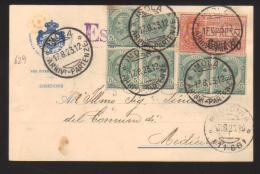6749- Da Imola A Medicina 17/8/1923 –  Espresso - 1900-44 Vittorio Emanuele III