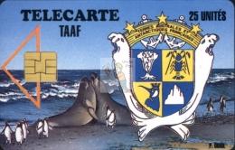 TELECARTE TAAF / FSAT PHONECARD #19940010 / N° 1 - Elephants De Mer Et Manchôts Empereurs - Cote IPCphonecards: 500€. - TAAF - Franz. Süd- Und Antarktisgebiete