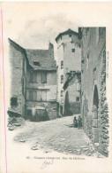 Cpa - Conques -  Rue Du Château   ,animée     Q969 - Francia