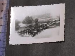 ACTES DE GUERRE PENDANT L'OCCUPATION - Signé COMMANDANT BYL ADRIEN - (photo De La Destuction D'un Pont ). - 1939-45