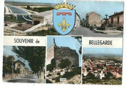 CPSM 30 BELLEGARDE SOUVENIR BLASON MULTIVUES - Bellegarde