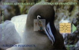 TELECARTE TAAF / FSAT PHONECARD #19970030B / N°14 - Albatros Fuligineux (Logo Moreno Rapproché) - Cote IPCphonecards: 10 - TAAF - Franz. Süd- Und Antarktisgebiete