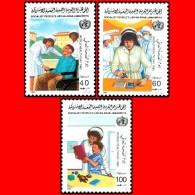LIBYA - 1985 WHO Health Nurse Elderly Handicap Disabled (MNH) - WHO