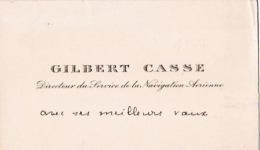 Carte De Visite De GILBERT CASSE DIRECTEUR DU SERVICE DE LA NAVIGATION AERIENNE - Avec Une Ligne Autographe - Aviation - Cartes De Visite