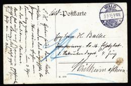 A4143) DR Feldpost 1.WK Frühe Karte 9.9.14 Von Wald / Rheinland - Deutschland