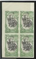 1903 - COTE DES SOMALIS - YVERT N°65 En BLOC De 4 NON DENTELE (SANS GOMME) - Côte Française Des Somalis (1894-1967)
