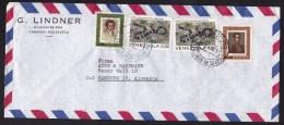 Venezuela: Airmail Cover To Germany, 1973, 4 Stamps, Snake, Bolivar (traces Of Use) - Venezuela
