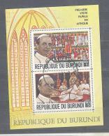 Burundi  Michel #   Block  35  Erstes Besuch Eines Pabstes An Afrika - Christianisme