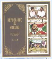 Burundi  Michel #   Block  44 B   (4 X) - 1962-69: Oblitérés