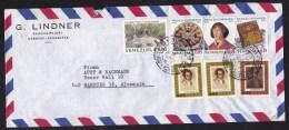 Venezuela: Airmail Cover To Germany, 1973, 7 Stamps, Snake, Copernicus, Science, Book, Bolivar (minor Damage) - Venezuela