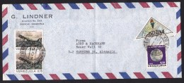 Venezuela: Airmail Cover To Germany, 1973, 4 Stamps, Snake, Humboldt, Science, Planet Venus, Triangle (traces Of Use) - Venezuela