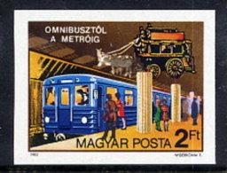 HUNGARY 1982 Budapest Public Transport Imperforate  MNH / **.  Michel 3576B - Hungary