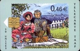 TELECARTE TAAF / FSAT PHONECARD #20030060 / N° 33 - Dumont D'Urville Et Son épouse Adèle Dans Leur Domaine De Terre Adél - TAAF - French Southern And Antarctic Lands