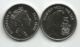 Fiji 5 Cents 1995. UNC FAO KM#77 - Fiji