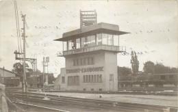 95 - ERMONT - Eaubonne - Carte Photo - Gare - Chemin De Fer - Train - Ermont
